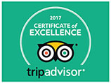 2017 Certificte of Excellence from Trip Advisor