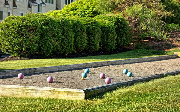 Bocce Ball at our wells maine resort