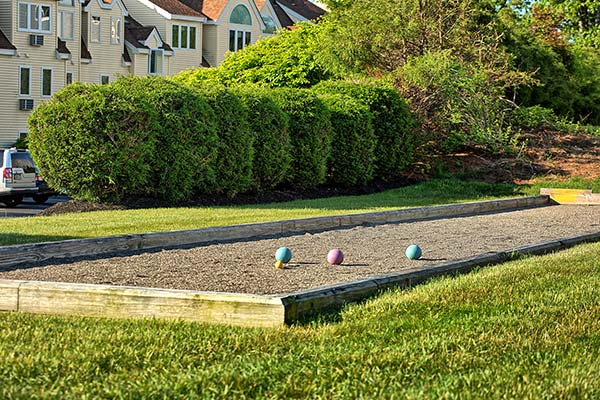 We also offer an outdoor bocce court.