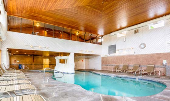 Our resort includes our amazing indoor pool.