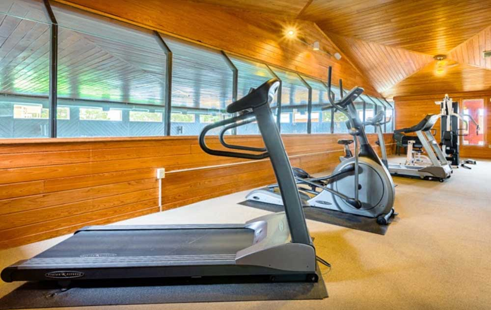 Treadmill in exercise room
