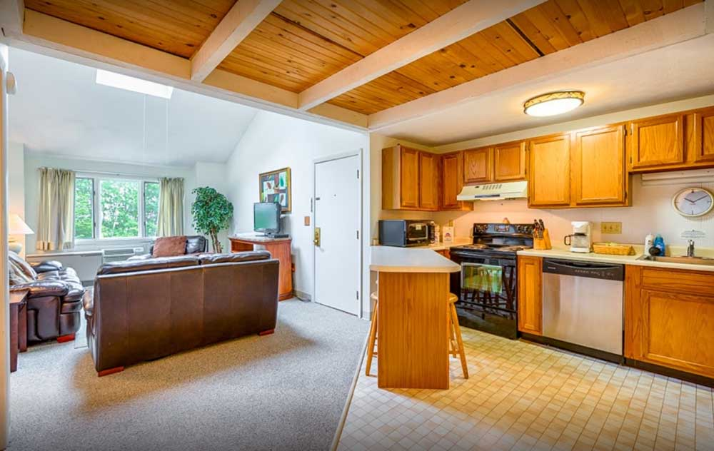 Kitchen and Living areas - suites in Wells ME