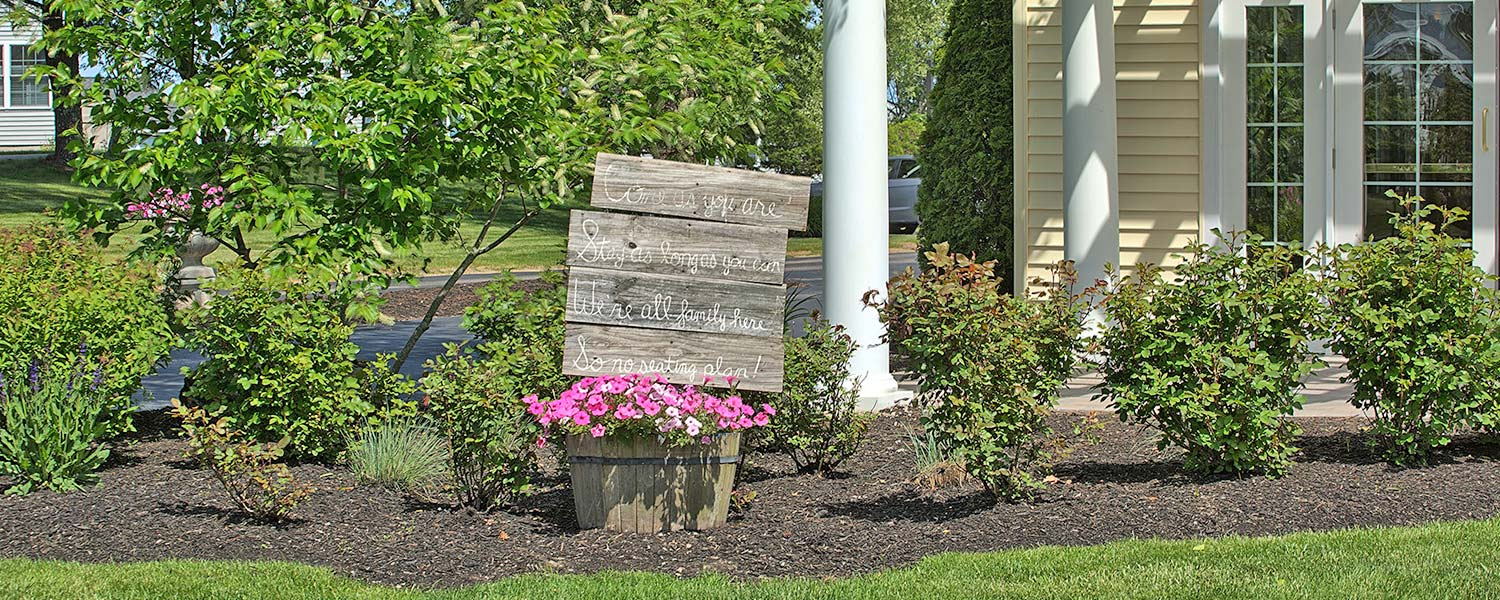 pretty landscaping at wells maine vacation rental
