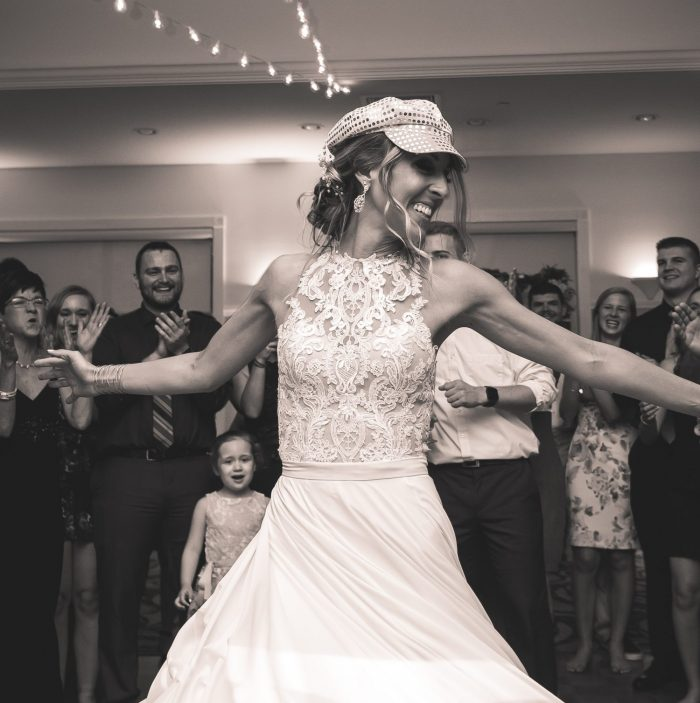 Shay wedding 2018; bride dancing